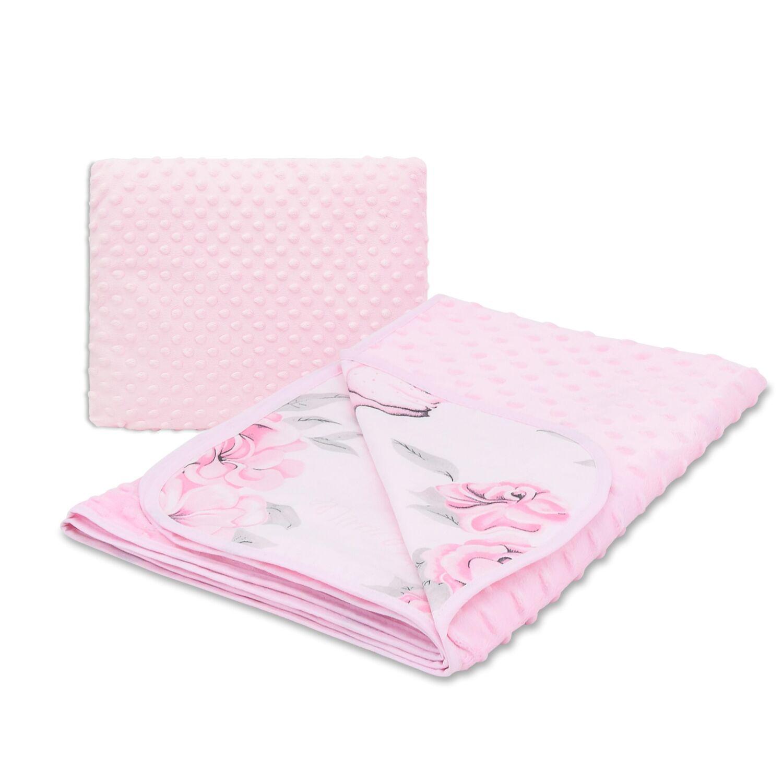 Ágynemű garnitúra 2 részes pamut+minky Flamingo Paradise