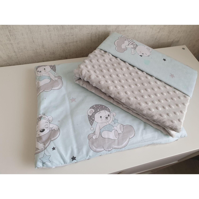 Ágynemű garnitúra 2 részes pamut+minky Sleepi Bear