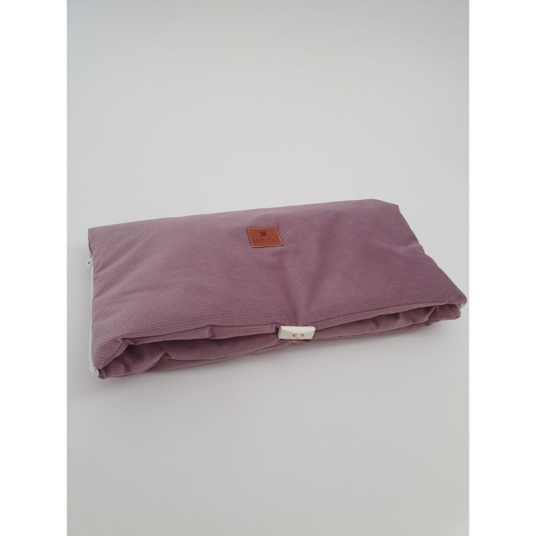 Babakocsi kézmelegítő violet velvet
