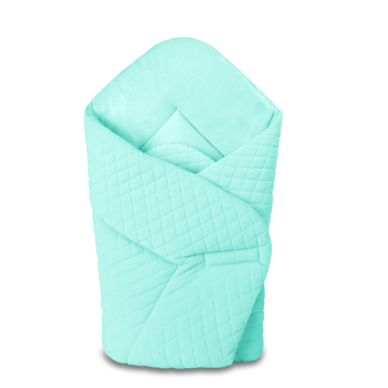 Baby Wrap újszülött pólya prémium VELVET menta