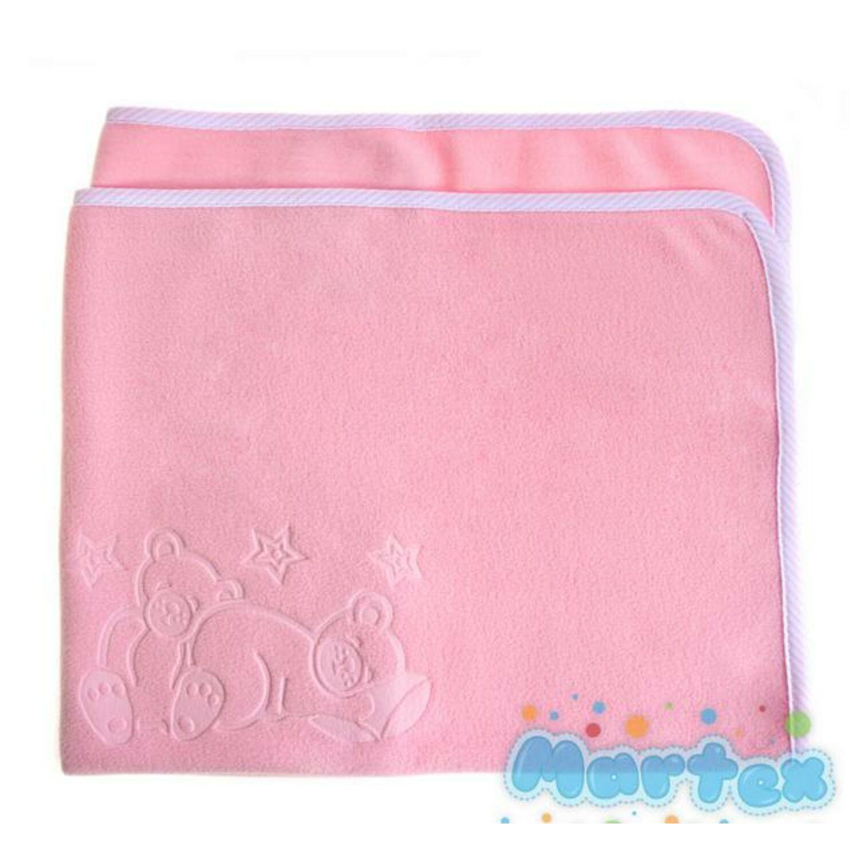 Polár babatakaró rózsaszín
