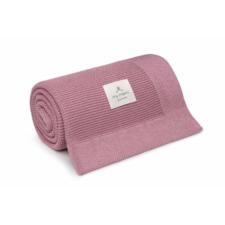 My Memi Prémium kötött bambusz takaró vintage pink