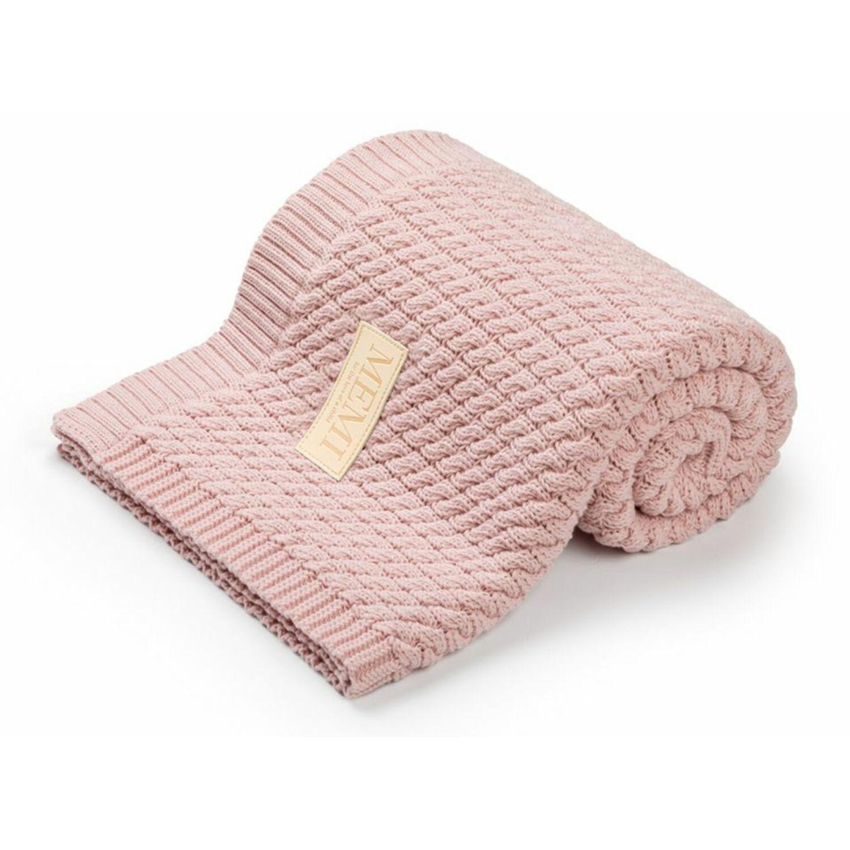 MEMI Prémium kötött takaró púder színű