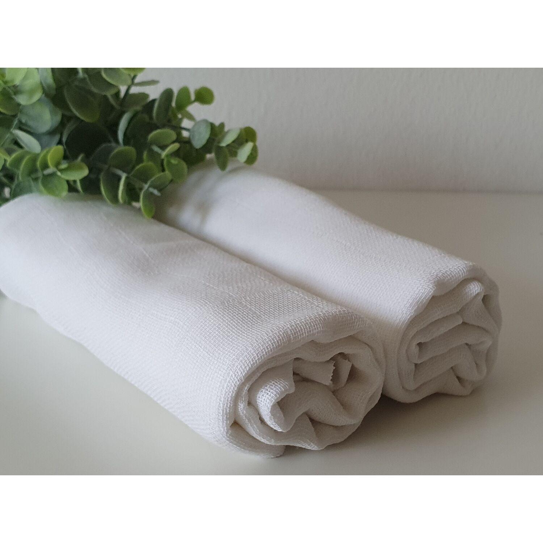 2 db-os fehér textilpelenka csomag