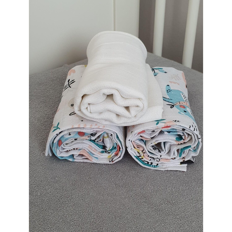 3 db-os textilpelenka válogatás ERDEI BARÁTOK