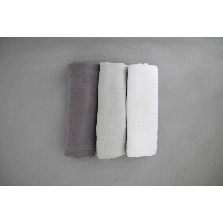 3db-os prémium muszlin pelenka GREY