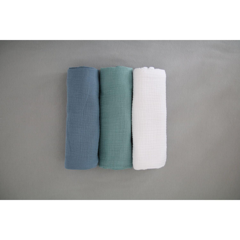 3db-os prémium muszlin pelenka MARINE