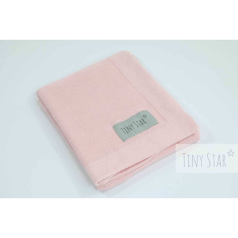 Prémium kötött bambusz takaró rózsaszín