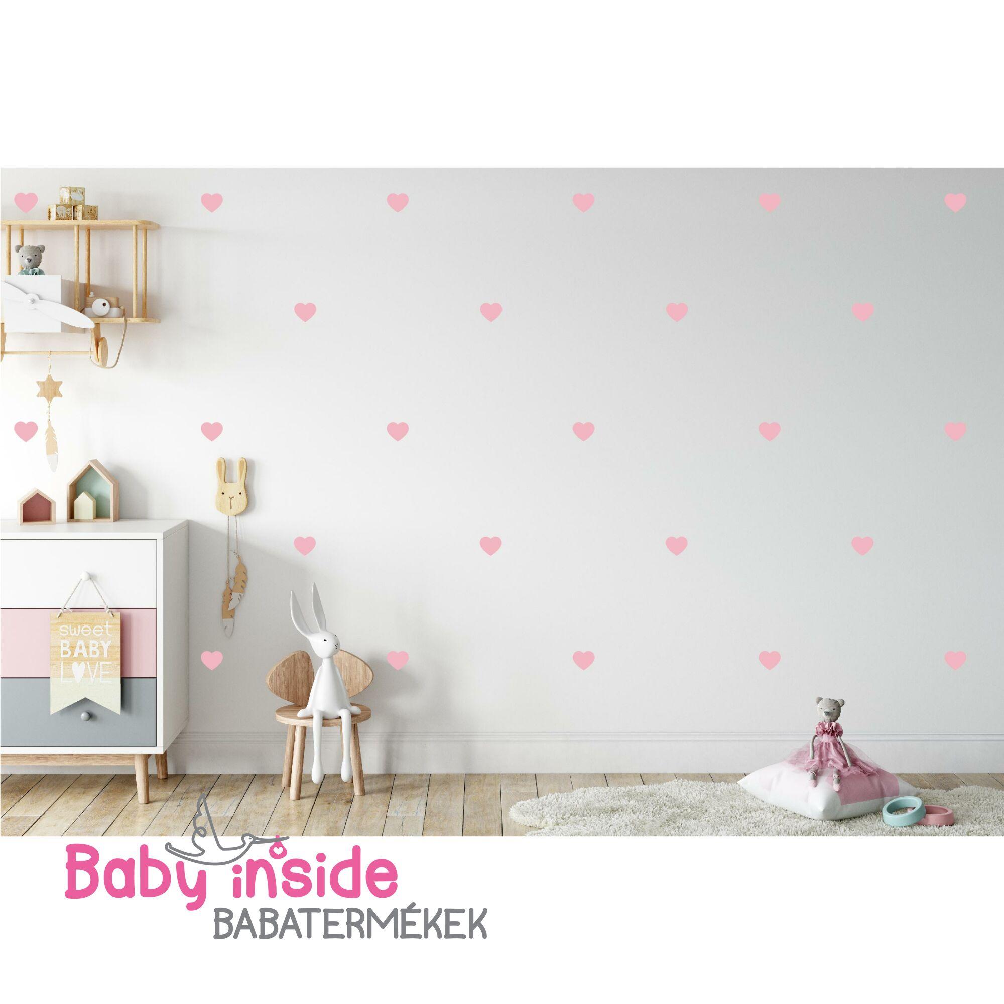 Falmatrica rózsaszín szívecske