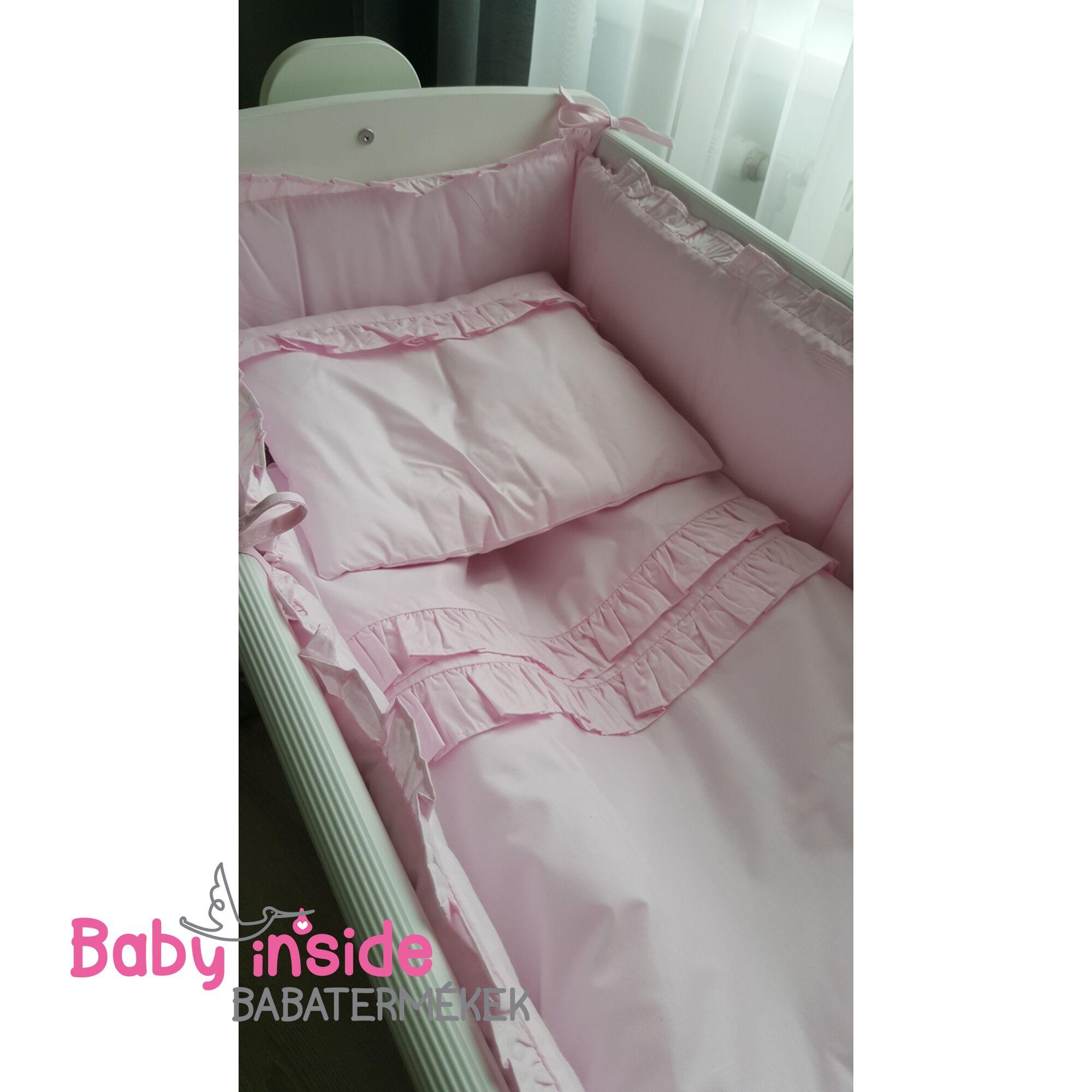 Bölcső ágynemű garnitúra rózsaszín