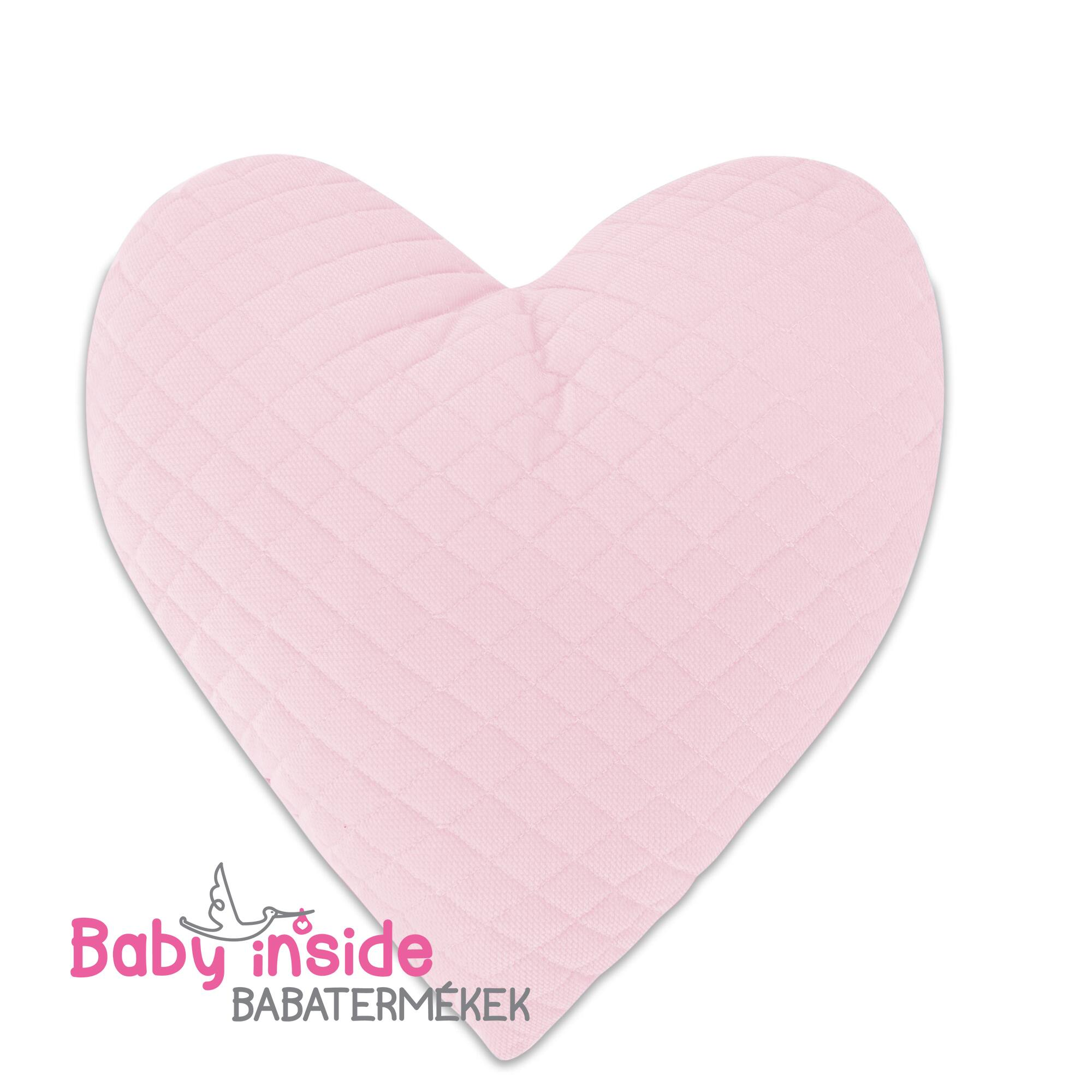 Szívpárna rózsaszín Velvet