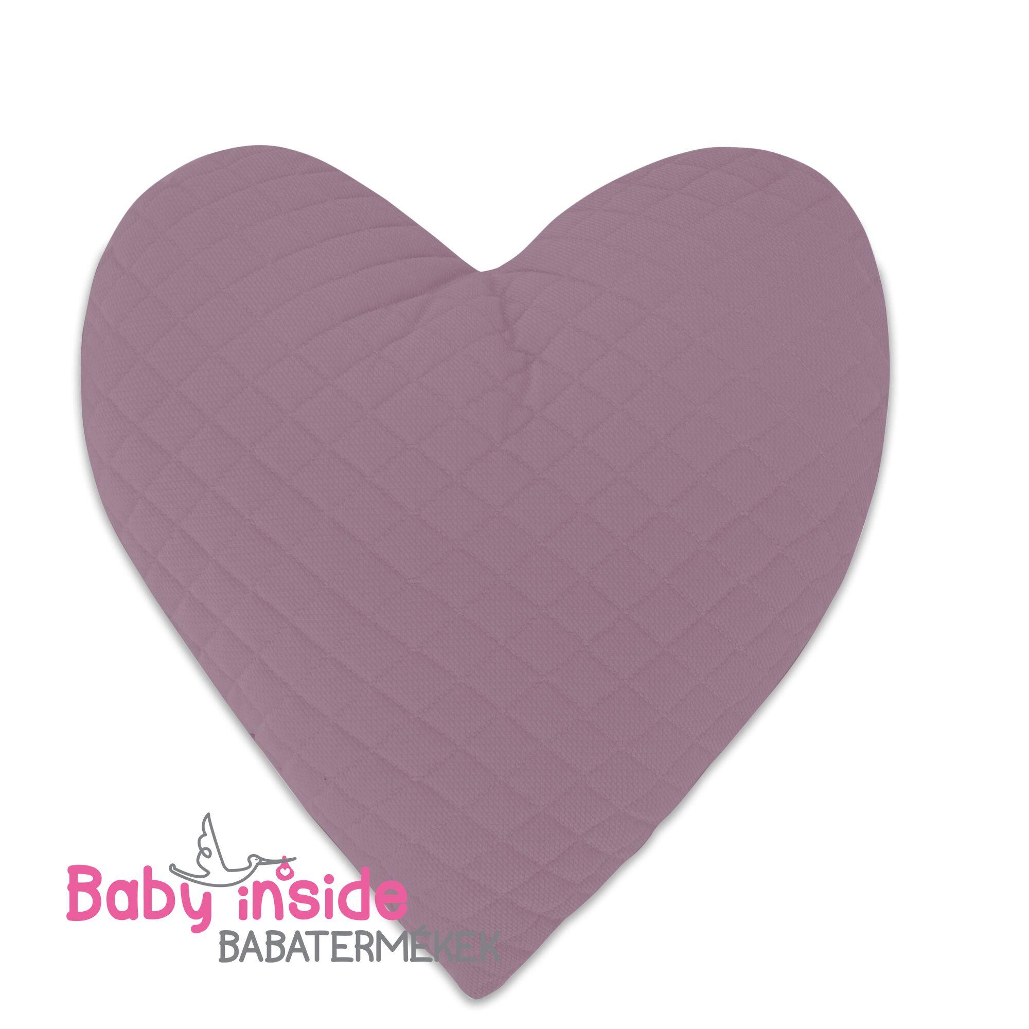 Szívpárna violet Velvet