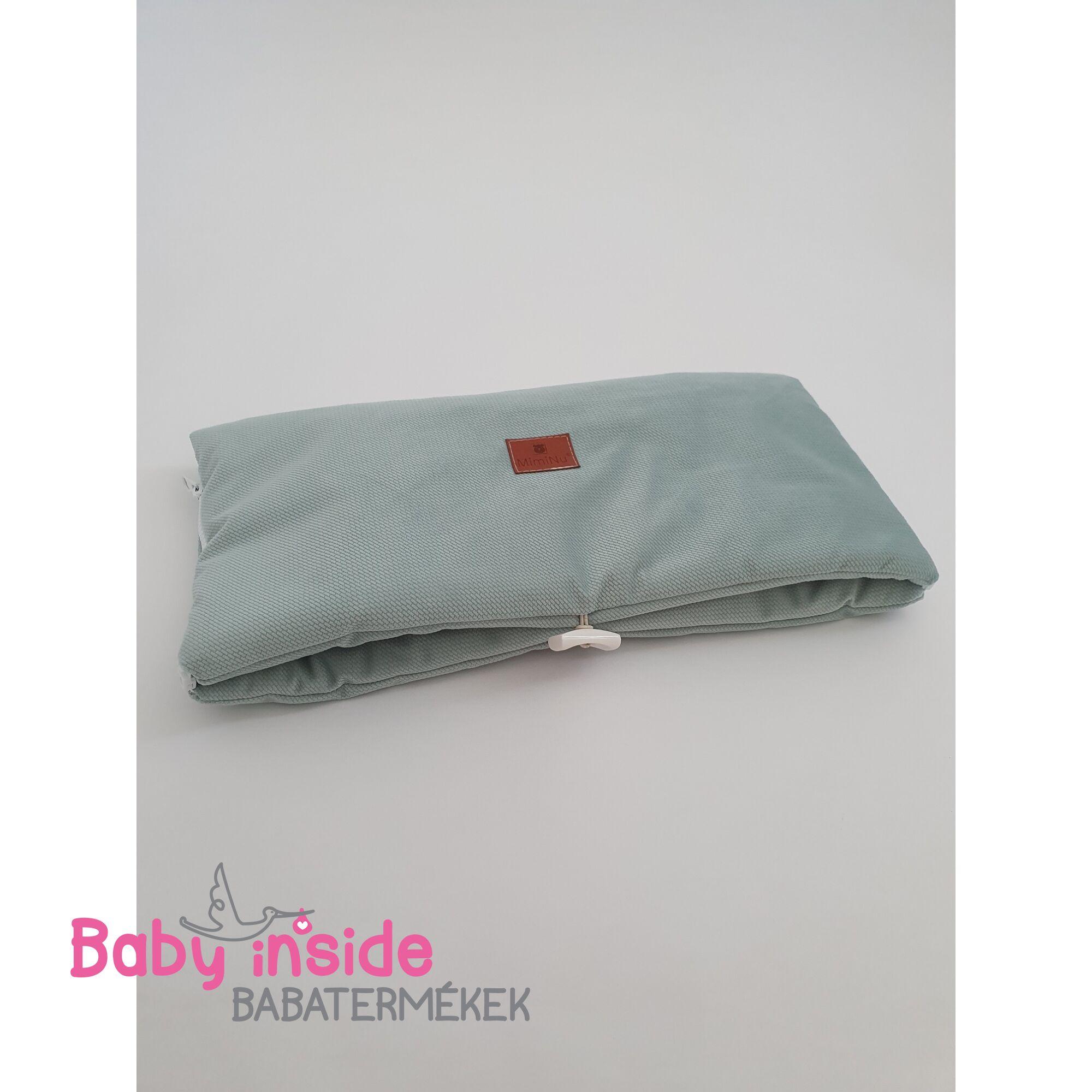 Babakocsi kézmelegítő türkiz velvet