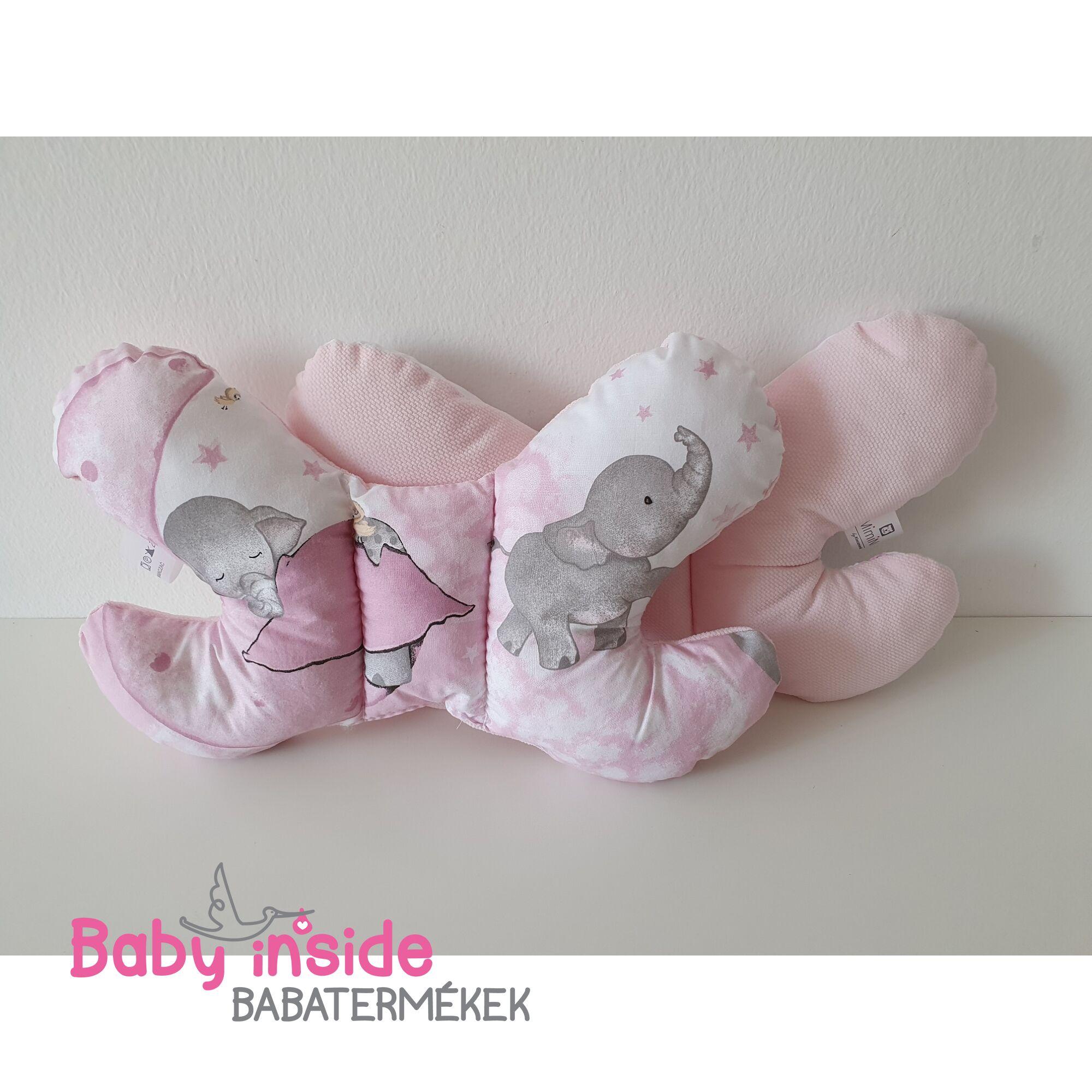 Pillangó párna prémium VELVET Pink Ella