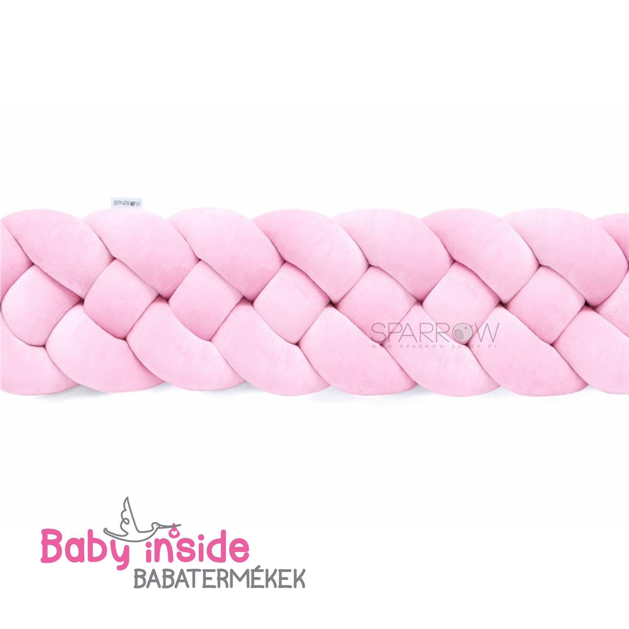 Fonott rácsvédő 4 szálas rózsaszín teljesen körbeérő