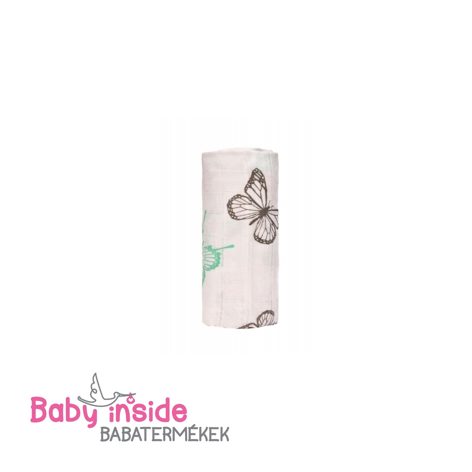 Bambusz fürdőlepedő, kifogó PRÉMIUM CSEH MINŐSÉG - Pillangók