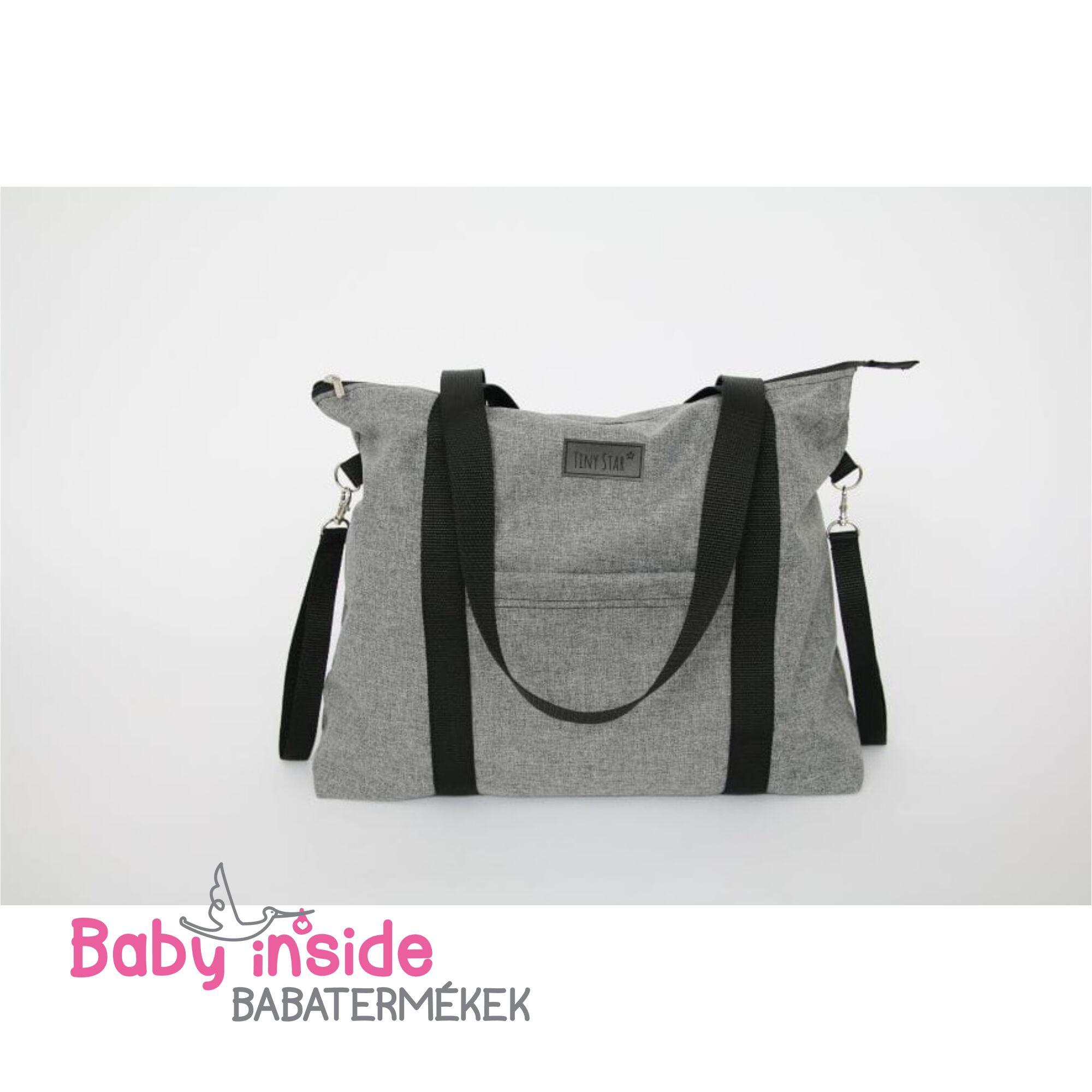 Prémium pelenkázó táska - Dark melange