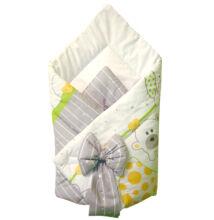 Baby Wrap újszülött pólya fehér-zöld kutyusos mintával