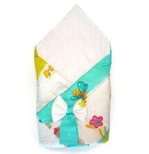 Baby Wrap újszülött pólya türkiz macis mintával