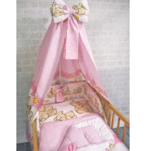 Komplett ágynemű garnitúra 6 részes rózsaszín macikás 70x140 cm
