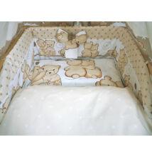 Ágynemű garnitúra 3 részes bézs macikás