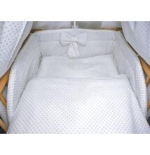 Ágynemű garnitúra 3 részes fehér-szürke aprópöttyös