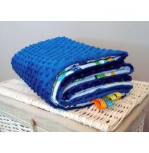 Kétoldalú polár-pamut babatakaró kék bagoly mintával