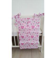 Zsebes tároló rózsaszín szívecskés