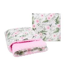 Kétoldalú polár-pamut babatakaró Rosa Floral