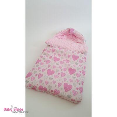 Bundazsák rózsaszín szívecskés