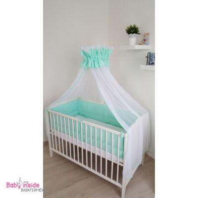 Baldachin fehér tüll és menta pamut anyagból - Menta - Baby Inside ... 34a3664720