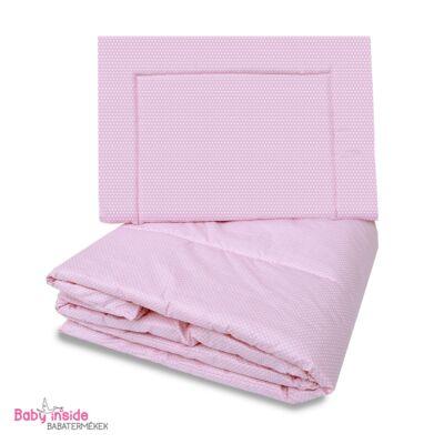 Ágynemű garnitúra 2 részes rózsaszín pöttyös