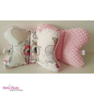 Pillangó párna Bagoly tesók rózsaszín