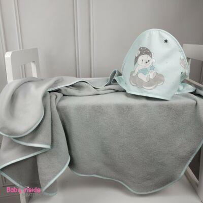 fürdőlepedő kapucnis
