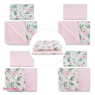 Prémium VELVET ágynemű garnitúra 2 részes rosa floral