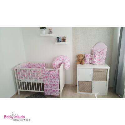 Komplett deluxe garnitúra rózsaszín szívecskés