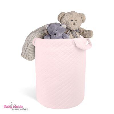 Játéktároló prémium VELVET rózsaszín