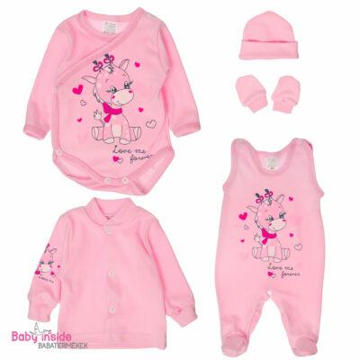 Újszülött szett 5 részes rózsaszín