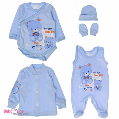 Újszülött szett 5 részes kék