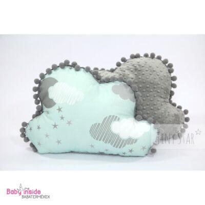 Felhőpárna menta felhős - Díszpárnák - Baby Inside Babatermékek ... ecb7dbe56d