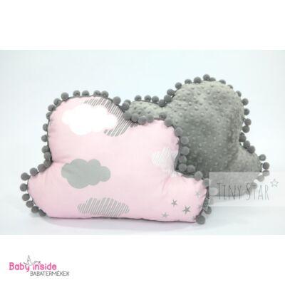 Felhőpárna rózsaszín felhős - Díszpárnák - Baby Inside Babatermékek ... 83699a0d37