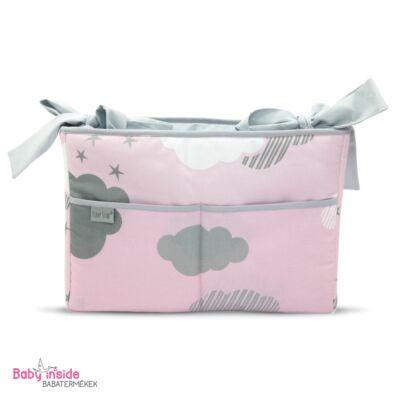 Prémium kiságy tároló rózsaszín felhős - Zsebes tároló - Baby Inside ... 6aa52a61ad