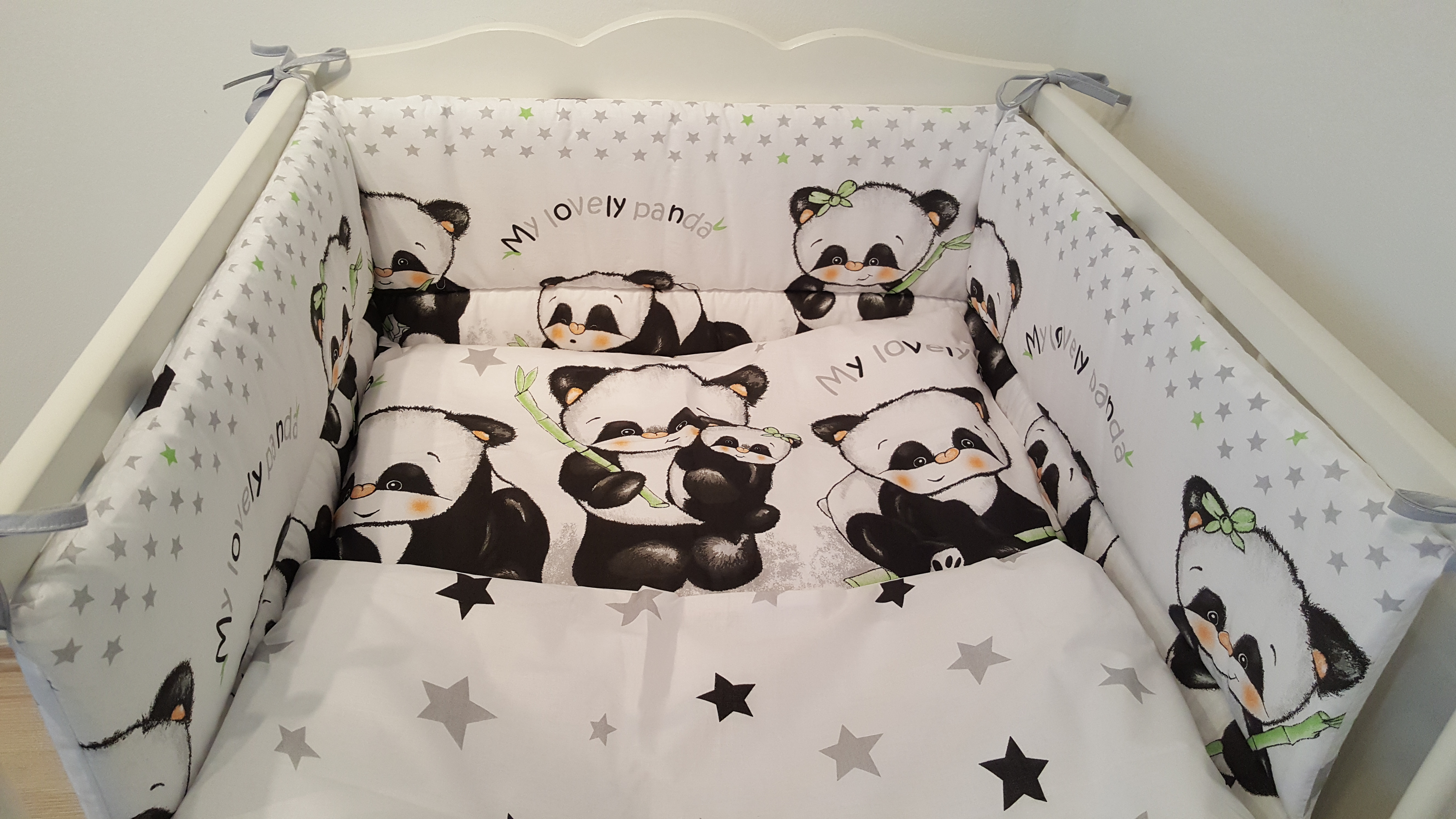 Ágynemű garnitúra 3 részes Panda Banda - 3 részes garnitúrák - Baby Inside  Babatermékek  e80c42e448
